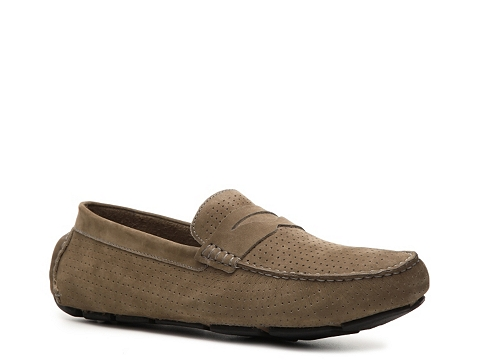 Pantofi Mercanti Fiorentini - Perforated Penny Moc Loafer - Grey