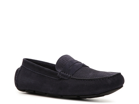 Pantofi Mercanti Fiorentini - Perforated Penny Moc Loafer - Navy