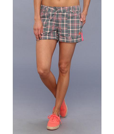 Pantaloni adidas - EDO Check Shorts - Vista Green/Bahia Coral