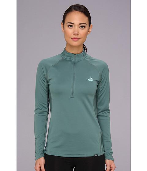 Bluze adidas - Terrex Swift 1/2 Zip Long Sleeve - Vista Green