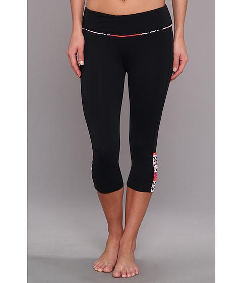 Pantaloni Carve Designs - Baya Capri - Black with Raspberry Tulum