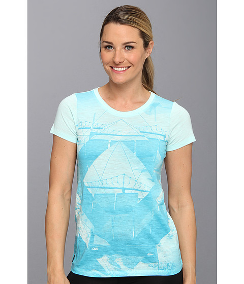 Bluze Lole - Key Top - Clearly Aqua Photo Print