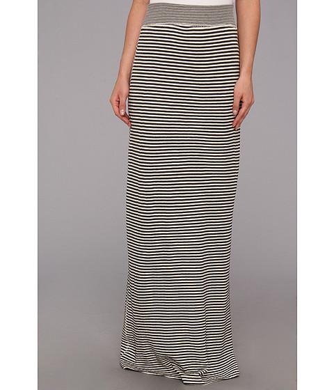 Fuste Tart - Brynn Maxi Skirt - Charcoal/White Stripes