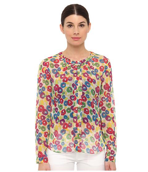 Bluze Armani Jeans - All Over Flower Print Silk Blouse - Flower Print