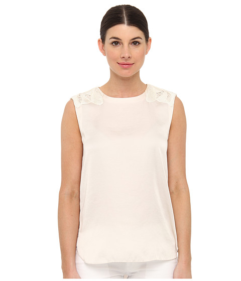 Bluze Armani Jeans - Silk Top With Shoulder Detail - Off White