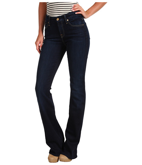 Blugi 7 For All Mankind - Mid-Rise Kimmie Bootcut w/ Contoured Waistband in Black Night - Black Night