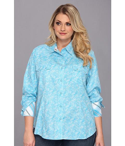 Camasi Roper - Plus Size 9009 Paisley 2 Color - Blue