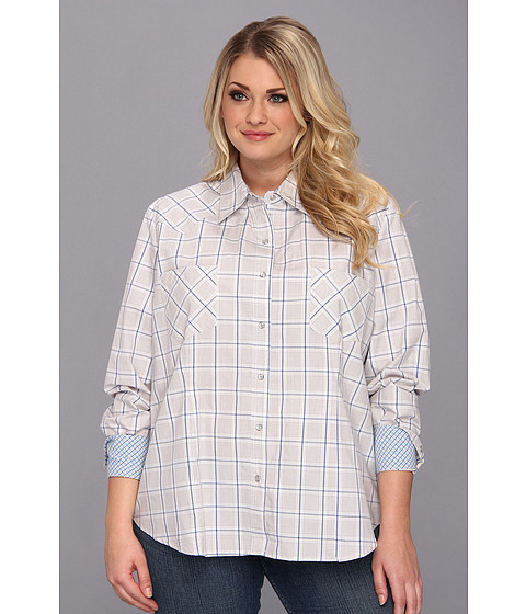Camasi Roper - Plus Size 9012 Off The Grid Check - Brown