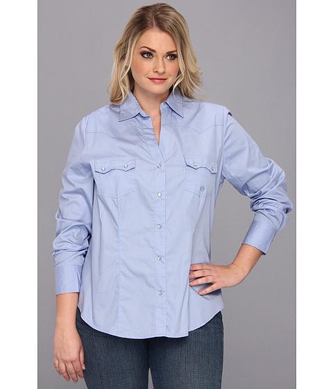 Camasi Roper - Plus Size 9035 Solid Poplin - Peri - Blue