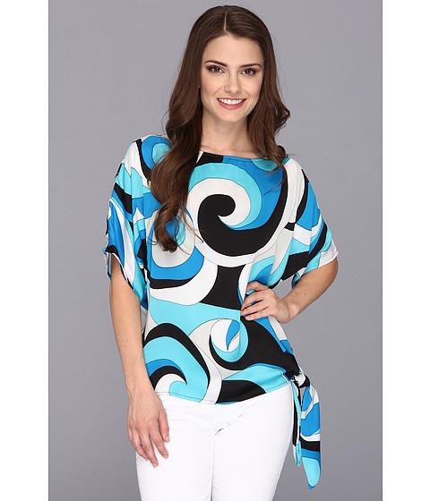 Bluze MICHAEL Michael Kors - Petite Deco Swirl Side Tie Top - Summer Blue