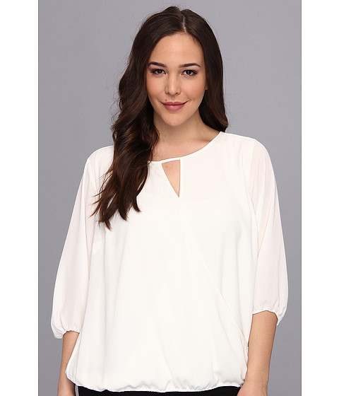 Bluze Vince Camuto - Plus Size 3/4 Sleeve Wrap Front Blouse - New Ivory