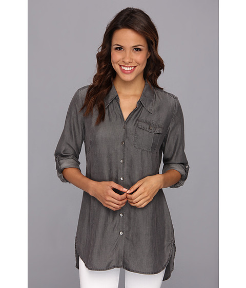 Camasi NIC+ZOE - Cool Mist Denim Shirt - Grey Denim