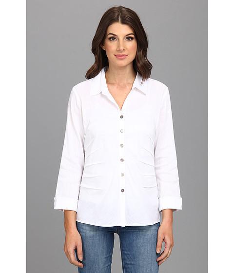 Camasi NIC+ZOE - Side Ruched Shirt - Paper White