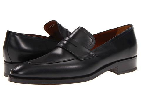 Pantofi A. Testoni - Dress Slip On Calf Penny - Lux Nero