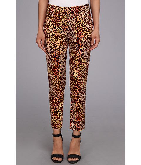 Pantaloni Anne Klein New York - Leopard Print Pant - Vermillion Multi