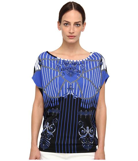 Bluze Versace - Printed Boatneck Blouse - Bluette/Stampa