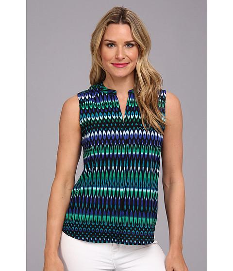 Bluze Calvin Klein - Printed Sleeveless Blouse - Atlantis Multi 1