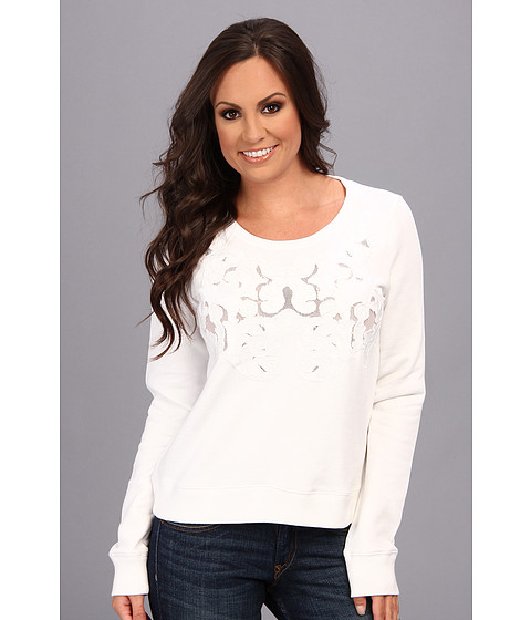 Bluze Lucky Brand - Mesh Inset Top - White