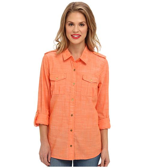 Camasi Jones New York - Roll Sleeve Shirt - Orange Zest