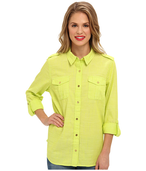 Camasi Jones New York - Roll Sleeve Shirt - Lime Twist