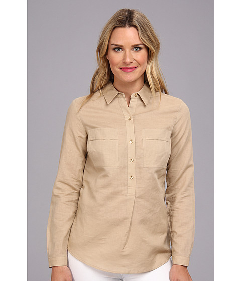 Camasi Jones New York - Tunic w/ Patch Pockets - Rye (Tan)