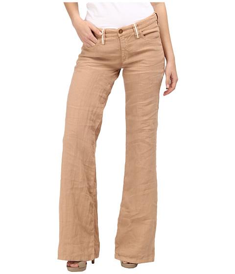 Pantaloni Armani Jeans - Regular Fit/ Mid Rise/ Linen Pant - Beige