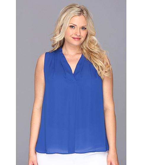 Bluze Vince Camuto - Plus Size S/L V-Neck Blouse - Ocean
