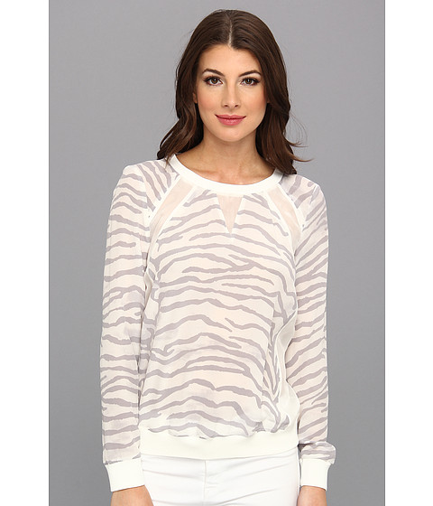 Bluze Rebecca Taylor - L/S Silk Sweatshirt - Snow