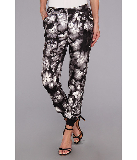 Pantaloni Rebecca Taylor - Ghost Flower Pant - Black/White