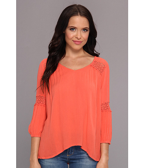 Bluze ONeill - Harlow Crinkle Gauze Top - Coral