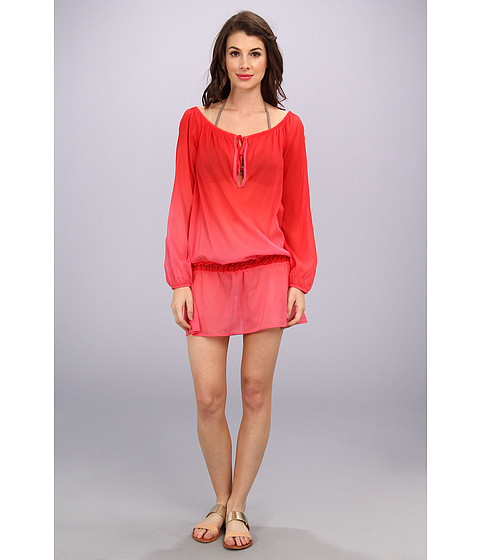 Costume de baie Athena - Drop Waist Tunic Cover-Up - Ombre Coral