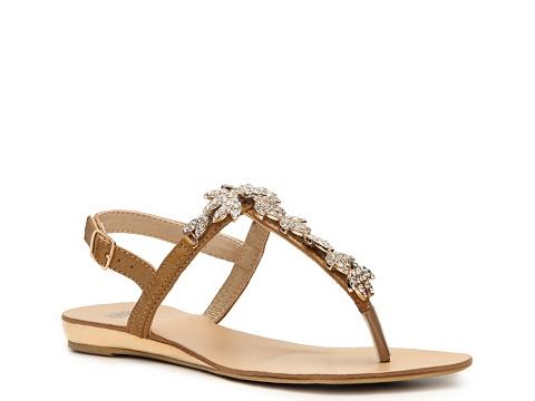 Sandale GC Shoes - Water Lillies Flat Sandal - Tan