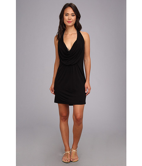 Costume de baie La Blanca - Gypset Solid Covers Draped Mini Dress - Black