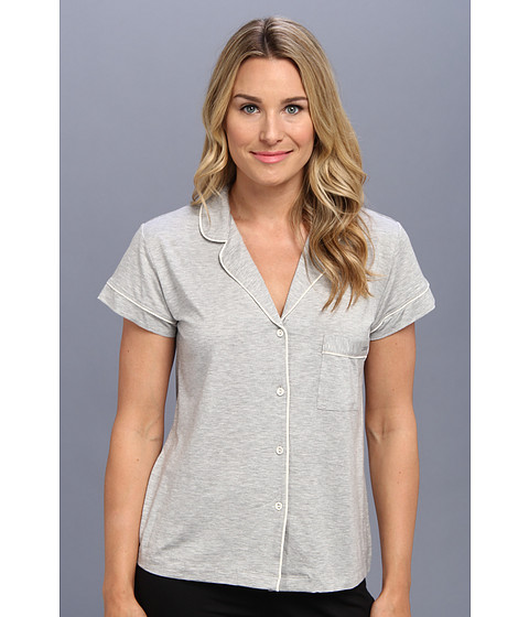 Lenjerie Calvin Klein - Structure S/S PJ Top - Grey Heather