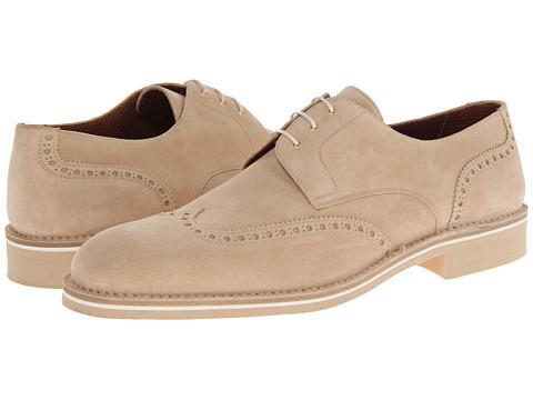 Pantofi A. Testoni - Casual Suede Wingtip - Beige