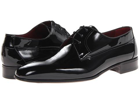 Pantofi A. Testoni - Patent Plain Toe Oxford - Black