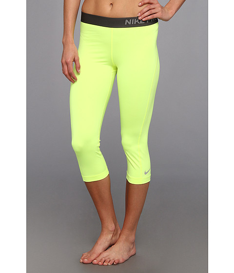 Pantaloni Nike - Pro Capri - Volt/Base Grey