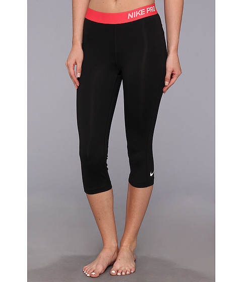 Pantaloni Nike - Pro Capri - Black/Geranium/Light Base Grey