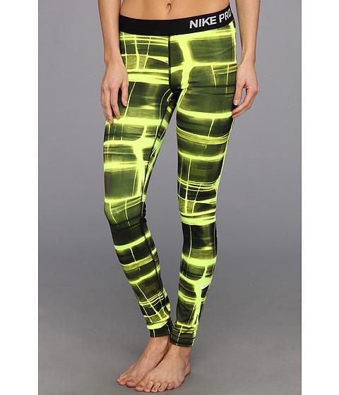 Pantaloni Nike - Pro Printed Tight - Volt/White