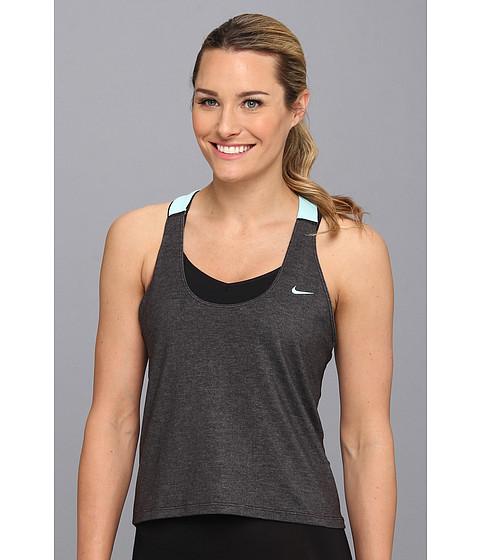 Bluze Nike - Elastika Tank 2.0 - Black Heather/Glacier Ice/Glacier Ice