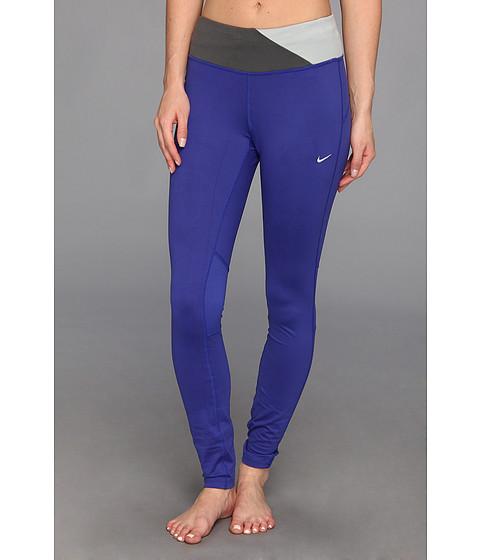 Pantaloni Nike - Dri-FitÃ'® Epic Run Tight - Deep Night/Dark Base Grey/Base Grey/Matte Silver