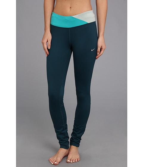 Pantaloni Nike - Dri-FitÃ'® Epic Run Tight - Nightshade/Turbo Green/Sea Spray/Matte Silver