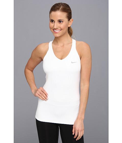 Bluze Nike - Advantage Solid Tank Top - White/Matte Silver