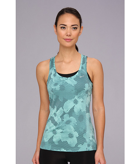 Bluze Nike - Printed Miler Tank - Diffused Jade/Reflective Silver