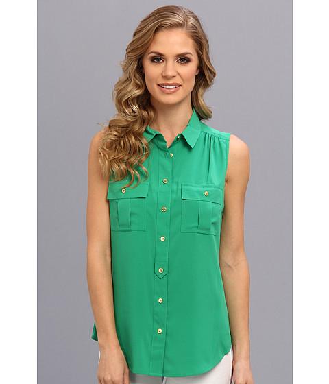 Bluze Calvin Klein - Sleevless Button Down Blouse - Grass