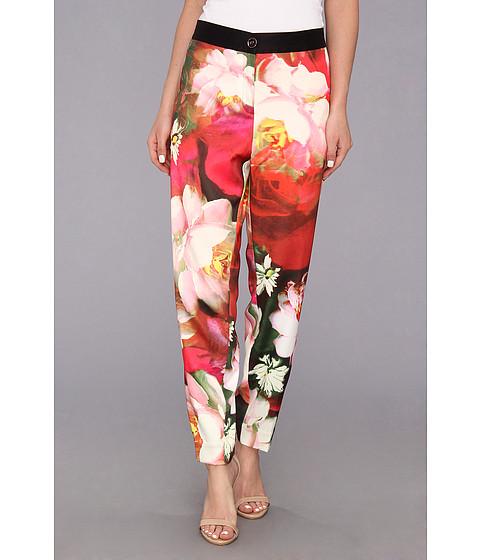 Pantaloni Ted Baker - Tiina Rose On Canvas Print Trouser - Bright Pink