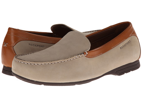 Pantofi Rockport - Laguna Road Venetian - Taupe Nubuck/Leather