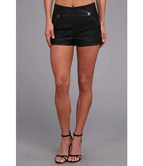 Pantaloni Dolce Vita - Faux Leather Short - Black