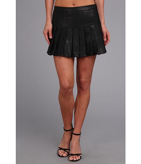 Fuste Dolce Vita - Faux Leather Skort - Black
