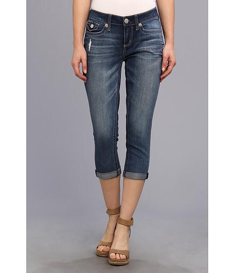 "Blugi Seven7 Jeans - 22\"" Easy Crop w/ Flap - Grunge"